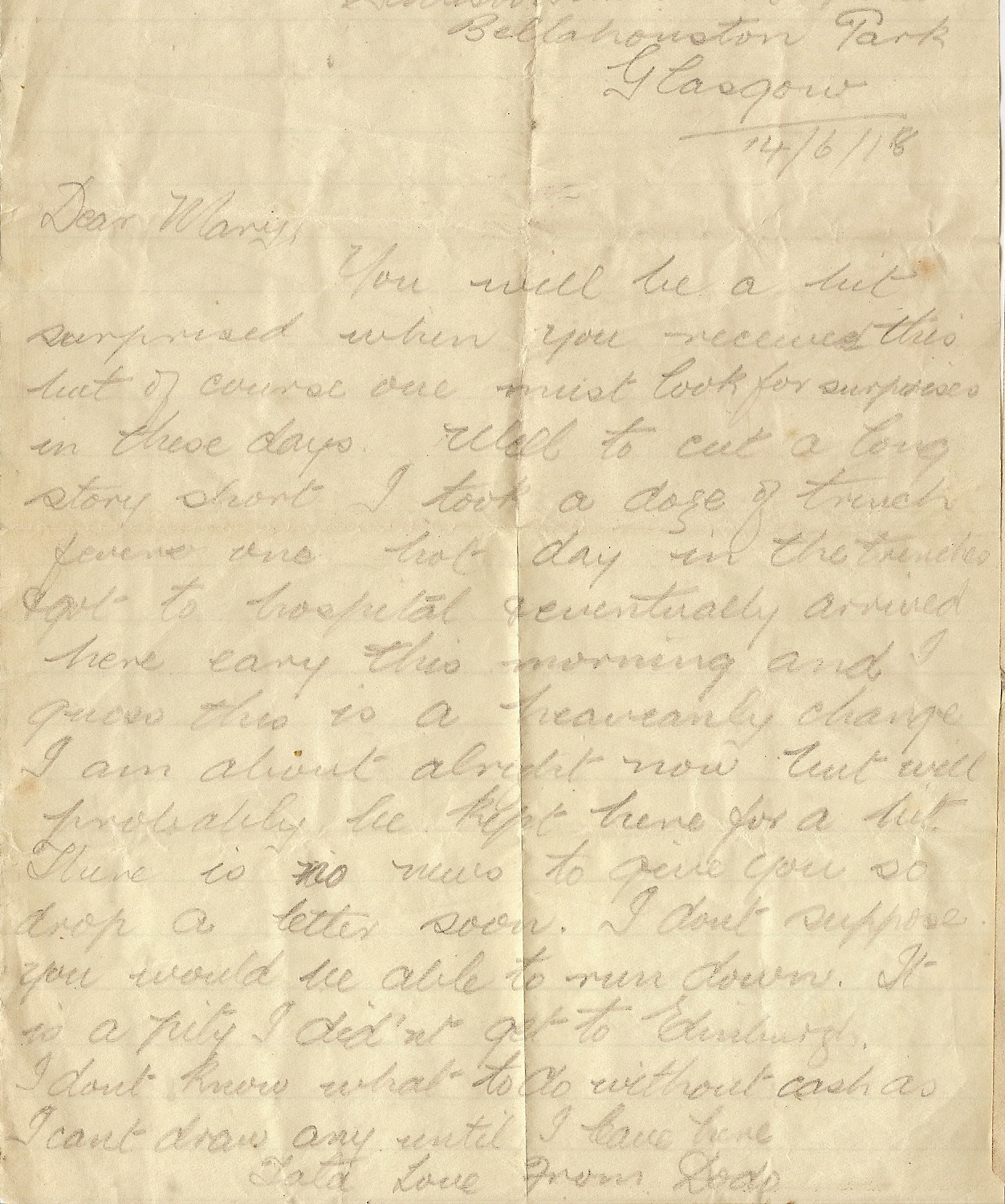 image of Letter dated June 14th 1918 - 14/6/18