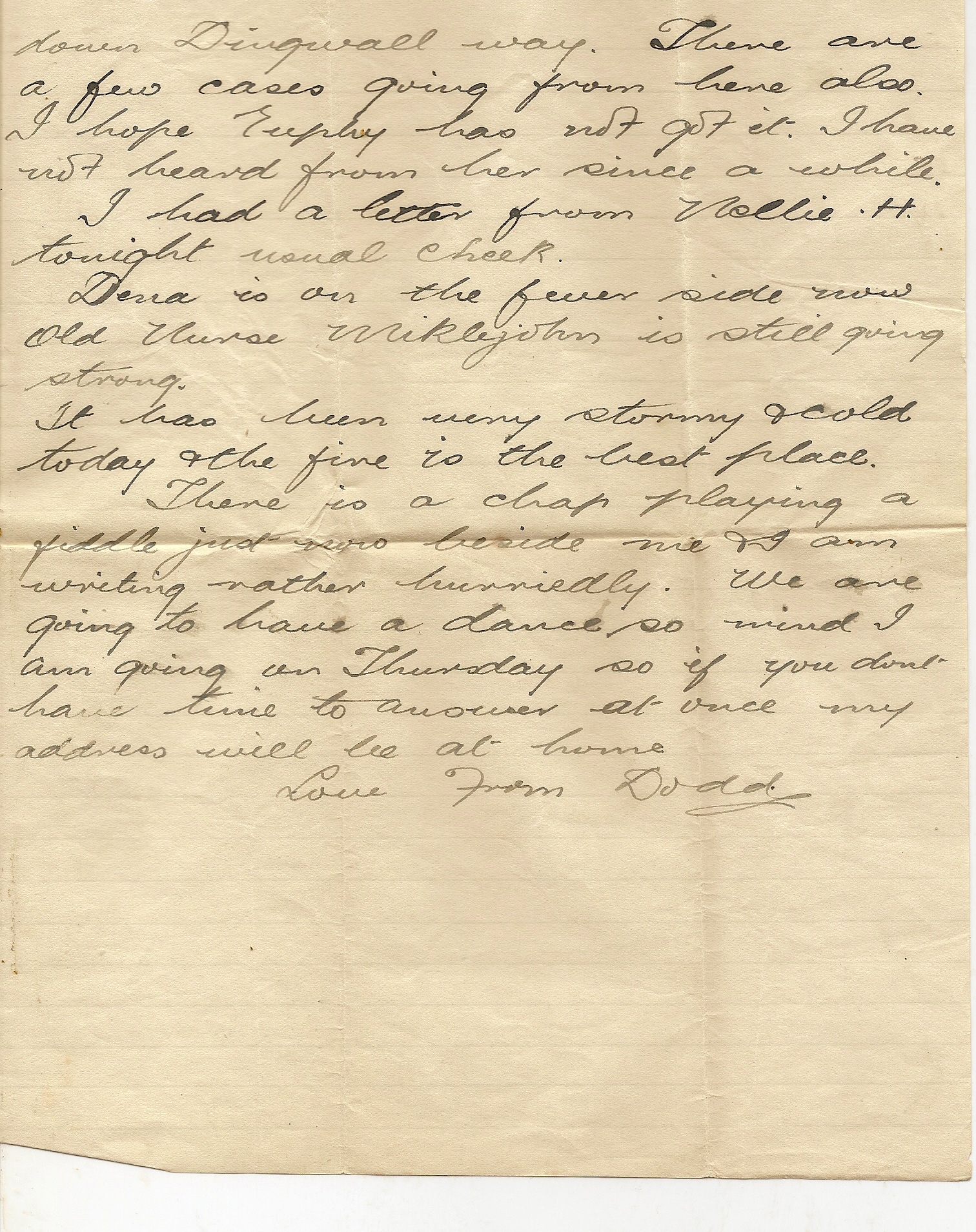 image of Letter from B Coy Hut 7 page 2