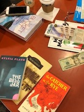 photo of books on table