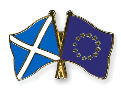 scottish and european flags