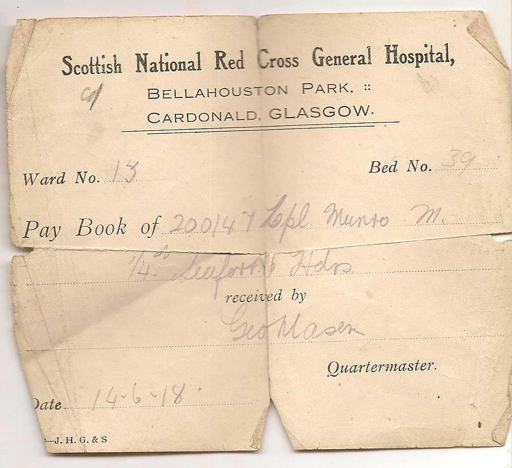 image of hospital card