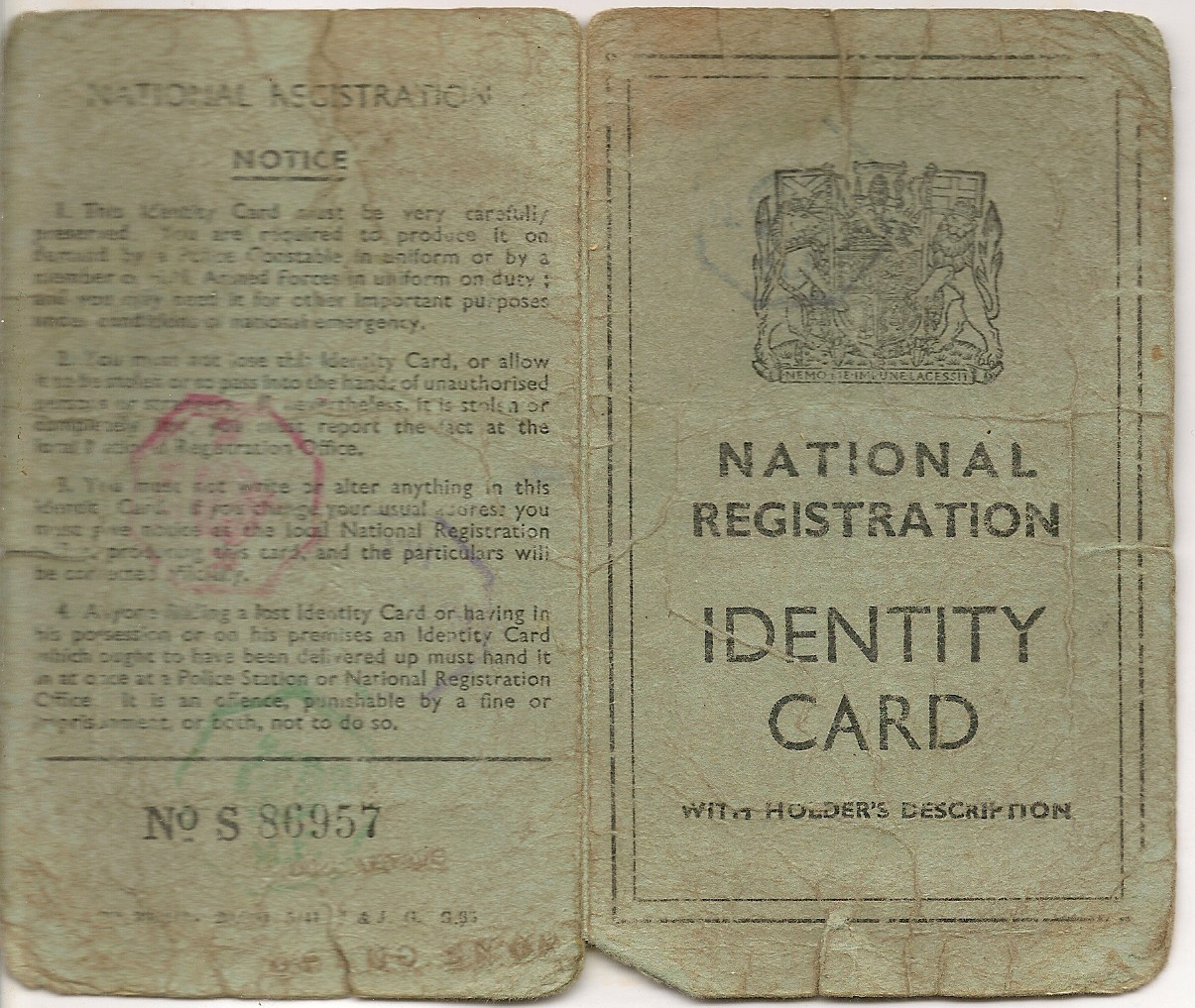 image of identity card front and back